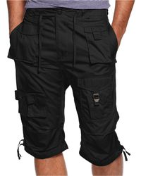 Sean john Shorts, Classic Flight Cargo Shorts in Black for Men | Lyst