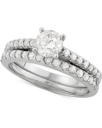 Macy's - Diamond Bridal Set (1-1/4 Ct. T.w.) In 14k White Gold - Lyst