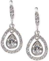 Givenchy - Crystal Orbital Pavé Drop Earrings - Lyst