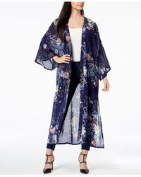 Steve Madden - Floral-print Duster Cover Up - Lyst