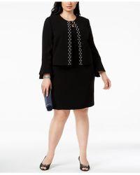 Tahari - Plus Size Embellished Dress Suit - Lyst
