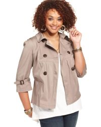 American Rag - Plus Size Military Double-breasted Jacket - Lyst