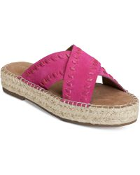 Aerosoles - Rose Gold Espadrille Slide Sandals - Lyst