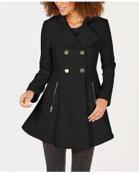 Laundry by Shelli Segal - Fit-and-flare Double-breasted Coat - Lyst