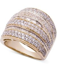 Wrapped in Love - Diamond Dome Statement Ring (2 Ct. T.w.) In 14k Gold - Lyst