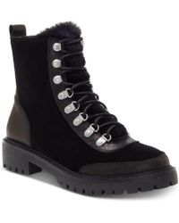 Lucky Brand - Ilianna Lace-up Faux Fur Hiker Boots - Lyst