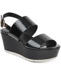 Guess - Kaelan Metallic Flatform Sandals - Lyst