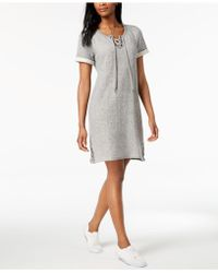 Style & Co. - French-terry Lace-up Dress, Created For Macy's - Lyst