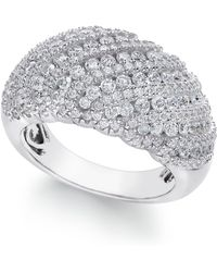 Arabella - Swarovski Zirconia Dome Cluster Statement Ring In Sterling Silver - Lyst