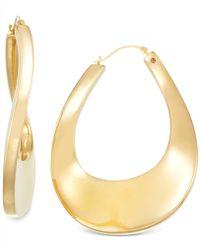 Signature Gold - Bold Twist Hoop Earrings In 14k Gold - Lyst