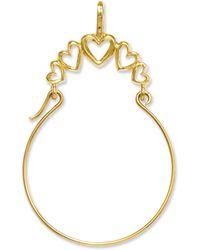 Macy's - 14k Gold Charm Holder, Polished 5-heart Charm Holder - Lyst