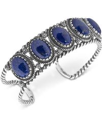 Carolyn Pollack - Lapis Lazuli Decorative Cuff Bracelet In Sterling Silver - Lyst