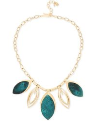 "Robert Lee Morris - Gold-tone & Patina Statement Necklace, 17-1/2"" + 3"" Extender - Lyst"