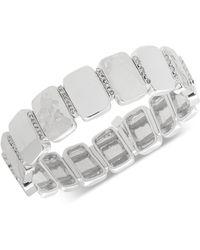 Nine West - Tri-tone Pavé Stretch Bracelet - Lyst