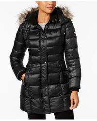 Bernardo - Faux-fur-trimmed Hooded Puffer Coat - Lyst