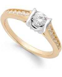 Sirena - Diamond Engagement Ring In 14k Gold (1/2 Ct. T.w.) - Lyst