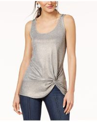 INC International Concepts - I.n.c. Petite Twist-front Ribbed Tank Top, Created For Macy's - Lyst