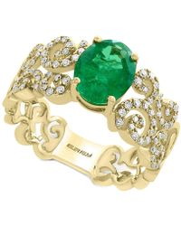 Effy Collection | Emerald (1-1/2 Ct. T.w.) And Diamond (1/3 Ct. T.w.) Ring In 14k Gold | Lyst