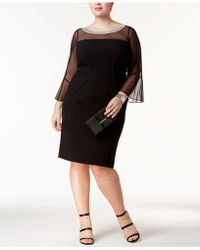 Alex Evenings - Plus Size Embellished Illusion Dress - Lyst