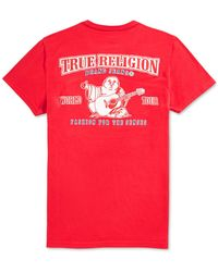 True Religion - Double Puff Graphic T-shirt - Lyst