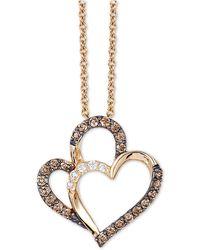 "Le Vian - Chocolatier® Diamond Heart 18"" Pendant Necklace (1/4 Ct. T.w.) In 14k Gold - Lyst"