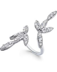 INC International Concepts - I.n.c. Silver-tone Crystal Bypass Ring, Created For Macy's - Lyst