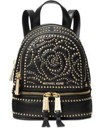 Michael Kors - Michael Rhea Mini Zip Studded Convertible Backpack - Lyst