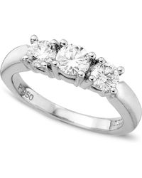 Macy's - Certified Colorless Diamond Three-stone Ring (1 Ct. T.w.) - Lyst