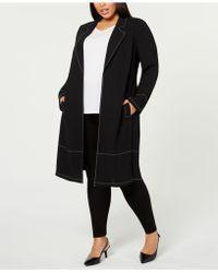 Alfani - Plus Size Contrast-stitch Jacket, Created For Macy's - Lyst