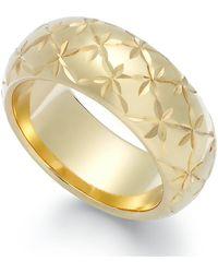 Signature Gold - Diamond-cut Star Ring In 14k Gold - Lyst