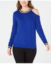 INC International Concepts - I.n.c. Cold-shoulder Sweatshirt, Created For Macy's - Lyst