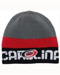 9bb243cdeba Lyst - Reebok Anaheim Ducks Player Reversible Knit Hat in Red for Men