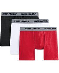 """Under Armour - Charged Cotton® Stretch 6"""" Boxerjock® 3-packmen's Underwear - Lyst"""