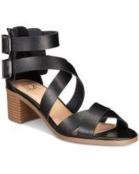 Material Girl - Danee Block Heel City Sandals - Lyst