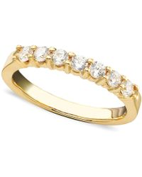 Macy's | Seven Diamond Band Ring In 14k Gold (1/2 Ct. T.w.) | Lyst