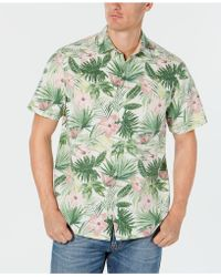 12d0b1f5aa2 Lyst - Tommy Bahama Men s Tropical Falls Floral-print Silk Shirt in ...