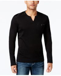 INC International Concepts - Collude Split-neck Shirt - Lyst