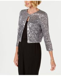 R & M Richards - Sequin Bolero Jacket - Lyst