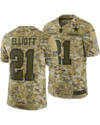 c851cd181 Nike - Ezekiel Elliott Dallas Cowboys Salute To Service Jersey 2018 - Lyst
