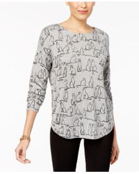 Olivia & Grace - Printed Boat-neck Sweater - Lyst