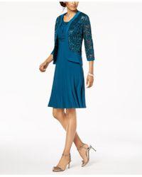 R & M Richards - Dress & Sequined Lace Jacket - Lyst