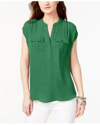 INC International Concepts - I.n.c. International Concepts Mixed-media Utility Shirt, Created For Macy's - Lyst