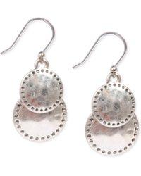 Lucky Brand | Silver-tone Double Drop Earrings | Lyst
