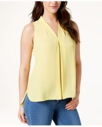 Vince Camuto - Inverted-pleat Blouse, Created For Macy's - Lyst