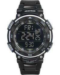 Armitron - Men's Digital Black Silicone Strap Watch 51mm 40-8254blk - Lyst