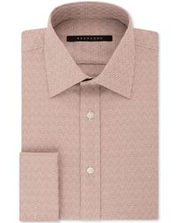 Sean John - Men's Classic/regular Fit Textured Solid French Cuff Dress Shirt - Lyst