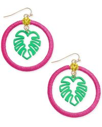 INC International Concepts Inc Gold-tone Thread-wrapped Palm Tree Drop Earrings, Created For Macy's - Multicolour