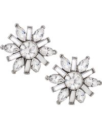 Carolee - Earrings, Silver-tone Small Button Snowflake Earrings - Lyst