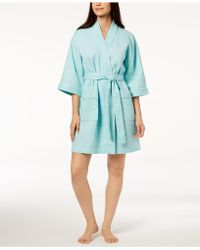 Charter Club - Short Spa Waffle Robe, Created For Macy's - Lyst
