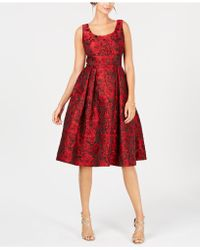 Ivanka Trump - Floral-print Fit & Flare Dress - Lyst